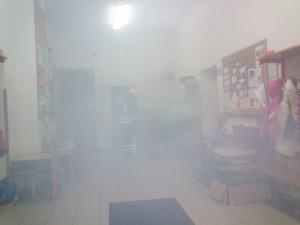 Evakuacija zaradi požara v šolskih prostorih