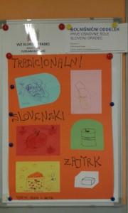 Tradicionalni slovenski zajtrk tudi v bolnišničnem oddelku