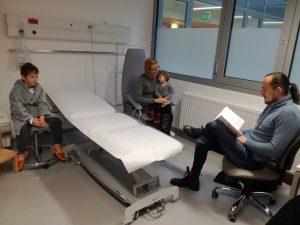 Kulturni dan v bolnišničnem oddelku in obisk Vida Valiča