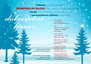 Povabilo na tradicionalni DOBRODELNI BAZAR Prve osnovne šole Slovenj Gradec